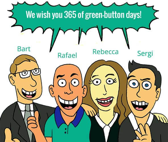365 days of green buttons