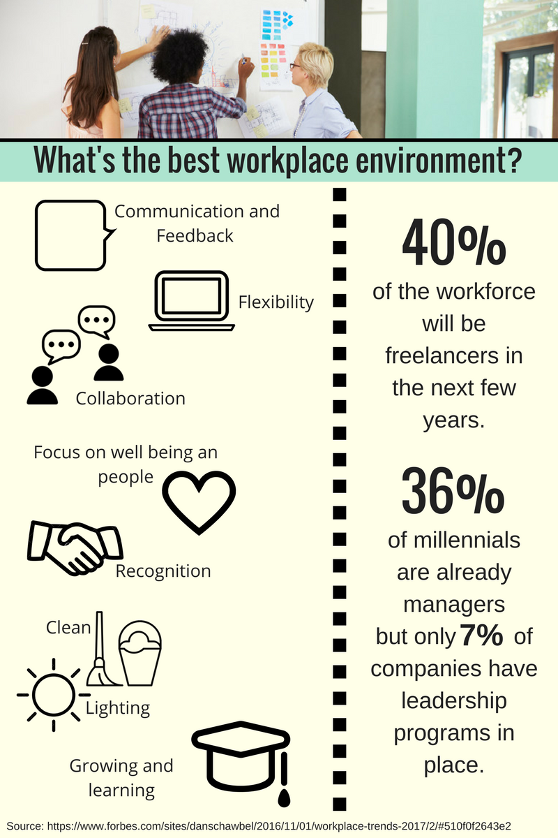 best work environment infographic