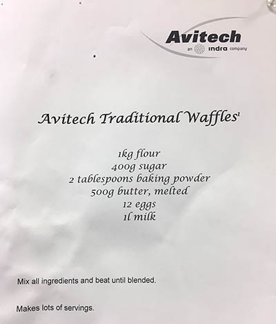 easy waffles recipe office potluck