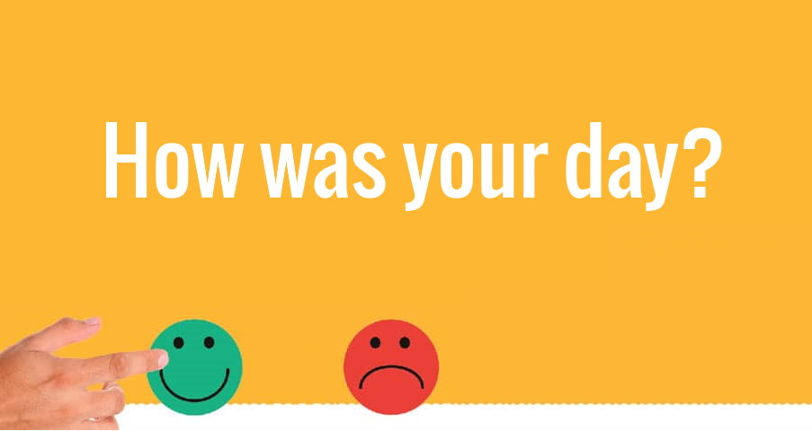 Get feedback with simple smiley faces