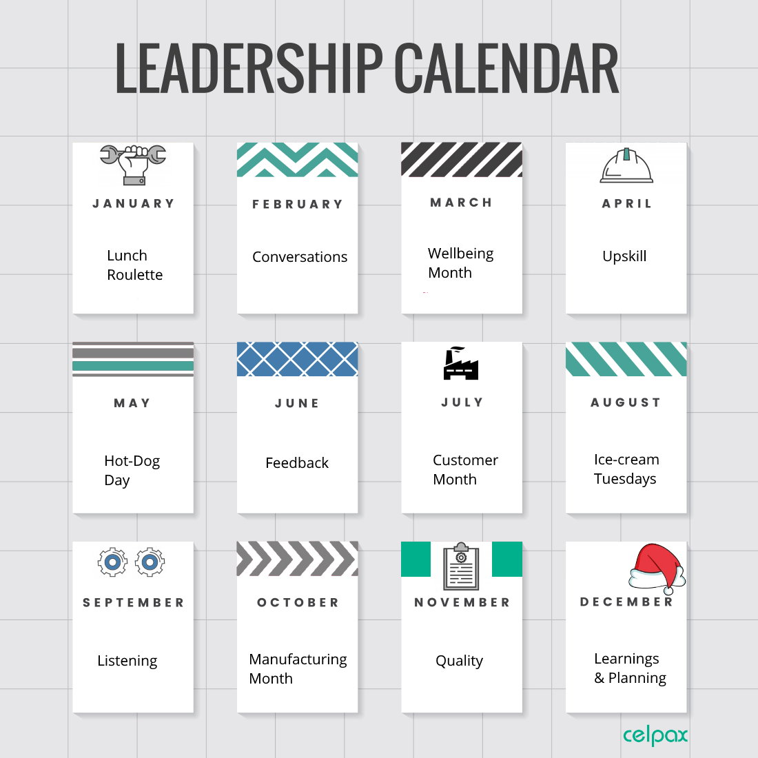 Monthly themes for leaders in manufacturing [Roadmap 2021]